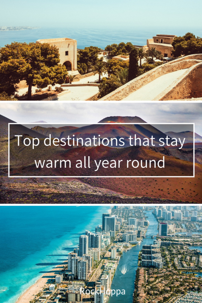 Top destinations that stay warm all year round